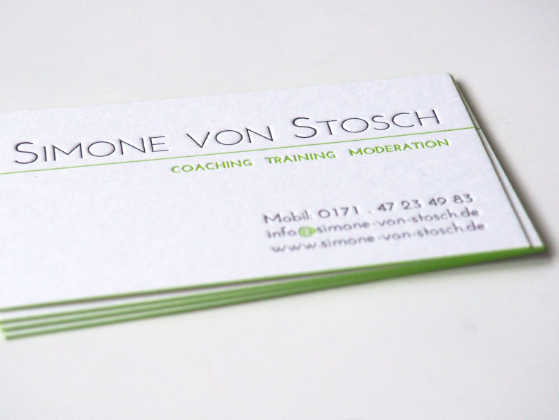 Simone von Stosch Coaching + Moderation // Visitenkarte + Website